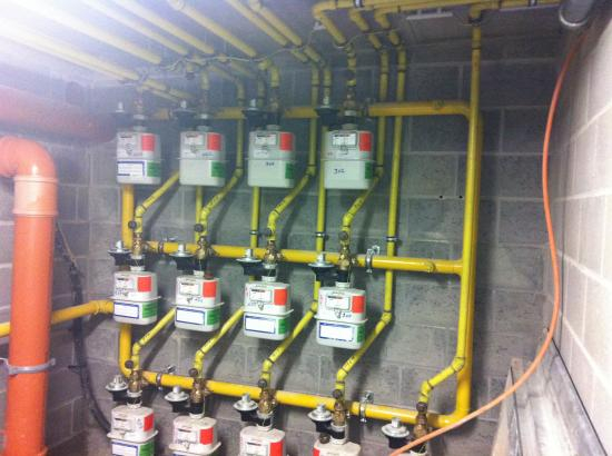 Raccordement local compteur gaz