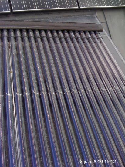 installation solaire avec tubes sous vide Viessmann