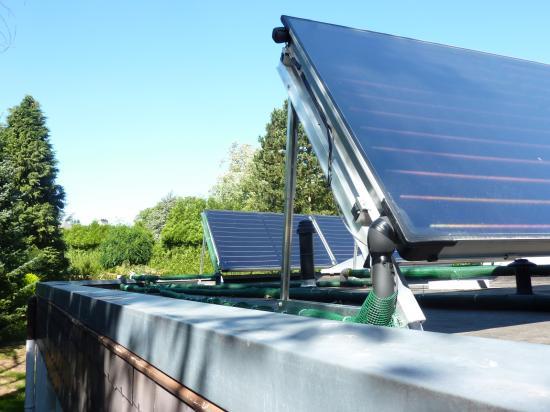 installation solaire appoint chauffage + piscine et production d'eau chaude des sanitaires